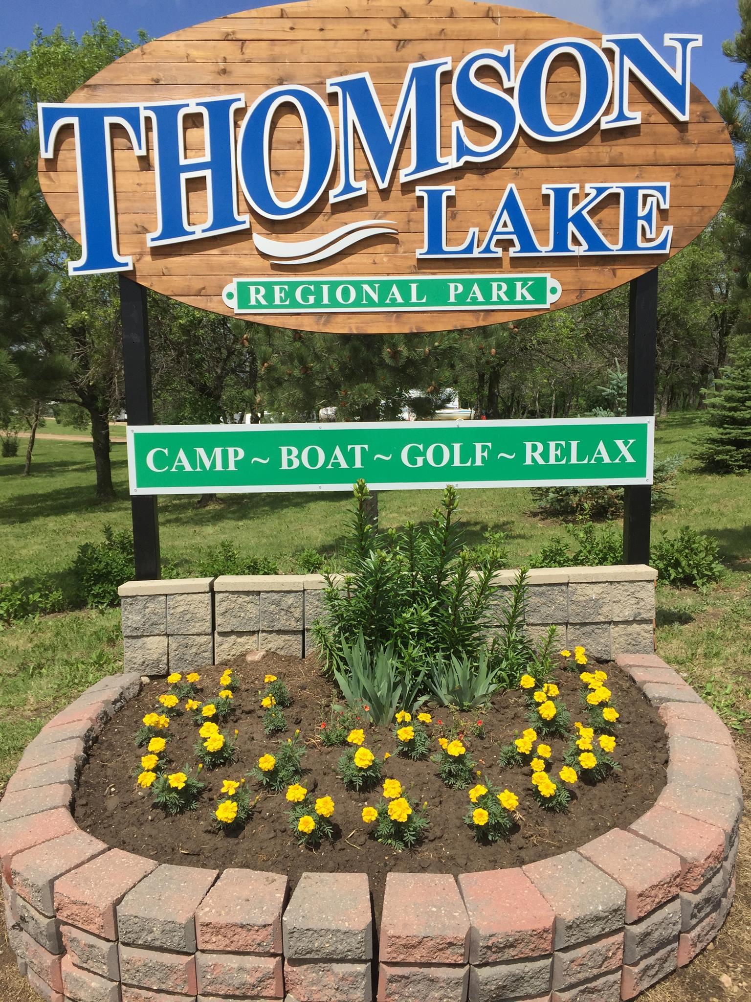 Thomson Lake Sign
